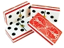 DOUBLE 6 Red Bicycle Themed Dominoes Set - With Spinners - Vinyl Box