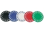 11.5gram Two-Tone Diamond Patterned Poker Chips - Roll of 50