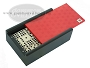 Double 9 Venetian Dominoes in Colored Wood Box - Red