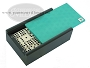 Double 9 Venetian Dominoes in Colored Wood Box - Green