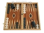 Mahogany Backgammon Set with Double Inlays