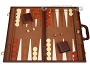 18-inch Deluxe Backgammon Set - Brown