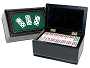 DOUBLE 12 Dominoes Set in Leatherette Case