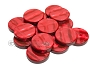 Backgammon Checkers - Acrylic - Red (1 3/4in Dia.) - Roll of 15