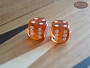 Precision Dice - Golden Amber - 1/2 in. - 1 pair (2 die)