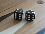 Precision Dice - Opaque Black - 1/2 in. - 1 pair (2 die)