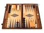 Oak Backgammon Set - Large - Blue