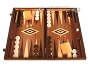 Walnut Backgammon Set - Large - Brown