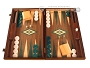 Walnut Backgammon Set - Large - Green
