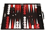 Hector Saxe Epi Leatherette Backgammon Set - Black
