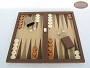 Dal Negro Backgammon Set - Brown Cialux