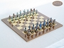 American Civil War Chessmen with Spanish Lacquered Board [Wood]