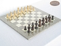 Classic Staunton Chessmen with Spanish Lacquered Chess Board [Grey]