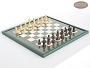 Classic Staunton Chessmen with Italian Lacquered Chess Board [Green]