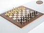 Classic Staunton Chessmen with Italian Lacquered Chess Board [Wood]