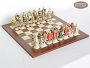 King Arthur Chessmen with Spanish Traditional Chess Board [Large]