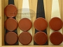 Backgammon Checkers - Plastic - Brown (1 in. Dia.) - Roll of 15
