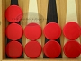 Backgammon Checkers - Plastic - Red (1 in. Dia.) - Roll of 15