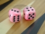 5/8 in. Rounded High Gloss Swoosh Dice - Pink (1 pair)