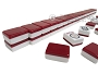 Mah Jong Tiles - White with Burgundy Back - 166 Tiles + 2 Black Trays