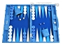 Hector Saxe Faux Snake Backgammon Set - Medium - Light Blue