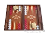 19-inch Mahogany Backgammon Set - Red