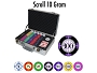 10gram Scroll Ceramic Poker Chips - Heavy Duty Claysmith Case - 300 Chips