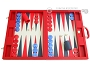 Dal Negro Eco Leather Backgammon Set - Red