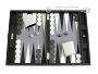 Hector Saxe Leatherette Travel Backgammon Set - Black