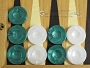 Backgammon Checkers - High Gloss Marbleized Plastic - Green (1-1/2in. Dia.) - Set of 30