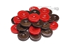 Backgammon Checkers - High Gloss Acrylic - Brown & Red (1 1/2in. Dia.) - Set of 30