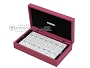 Double 6 Swarovski Crystal White Dominoes Set - Pink Leather Case