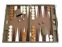 Hector Saxe Faux Snake Backgammon Set - Medium - Beige