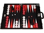 Wycliffe Brothers® Tournament Backgammon Set - Black with Black Field - Gen II