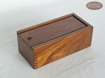 Sheesham Wood Chessmen Storage Box - Fits 4.5-in. King