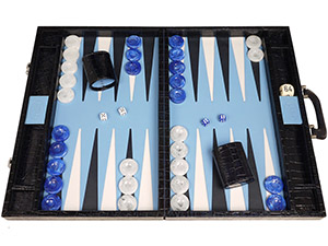 Leather Backgammon Sets: $500-$900