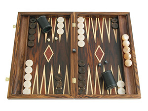 Wood Backgammon Sets: Large $300+