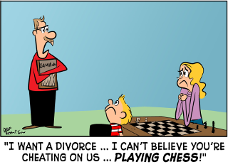 Backgammon Board Game Cartoon