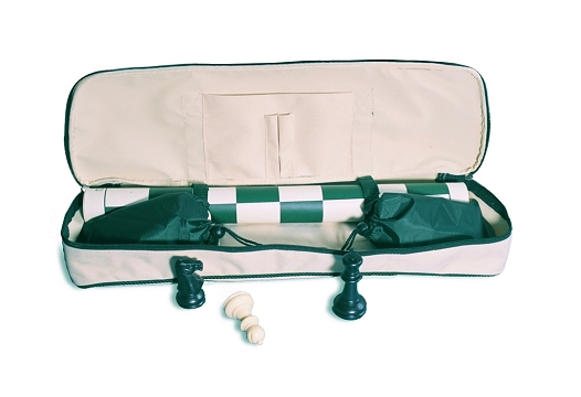 2375 - Chess To Go Roll-Up Chess Set - Beige