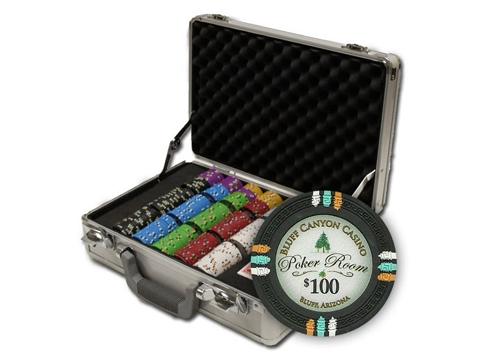13.5gram Bluff Canyon Composite Clay Poker Chips - Heavy Duty Claysmith Case - 300 Chips