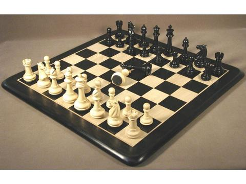 Meghdoot Ebony Chessmen with Ebony Chess Board
