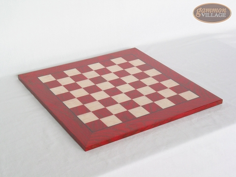 Italian Lacquered Chess Board [Red]