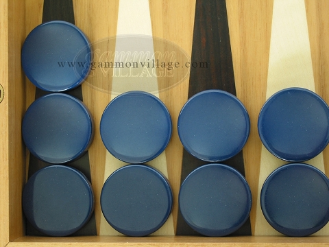 Backgammon Checkers - Blue - Roll of 15