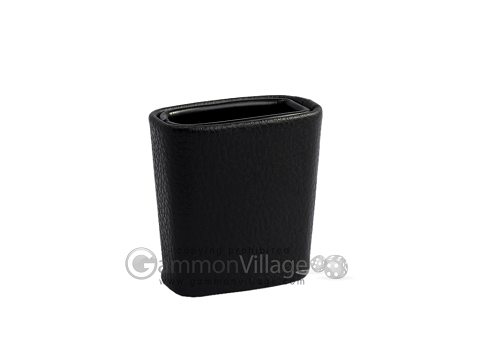 Leatherette Backgammon Dice Cup - Oval - Black