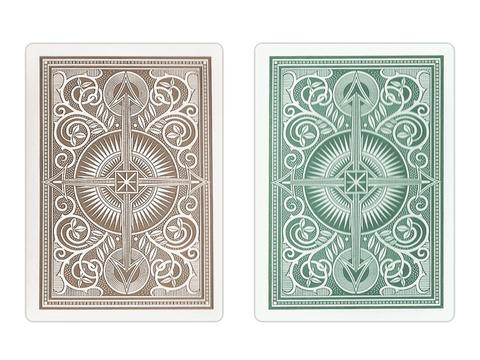Kem Arrow Green/Brown Narrow Cards - Double Deck