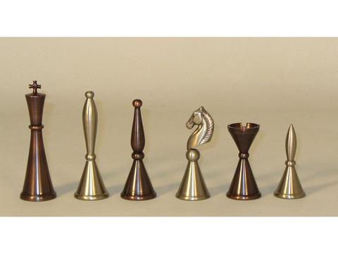 Solid Brass Art Deco Chessmen