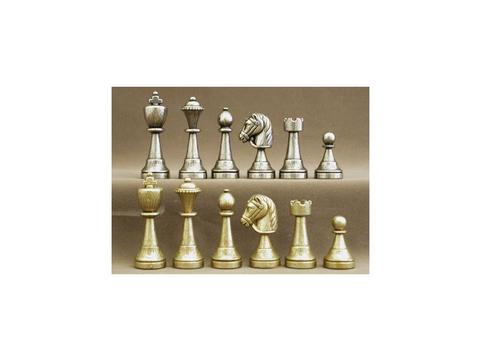 Metal Staunton Medium Chessmen