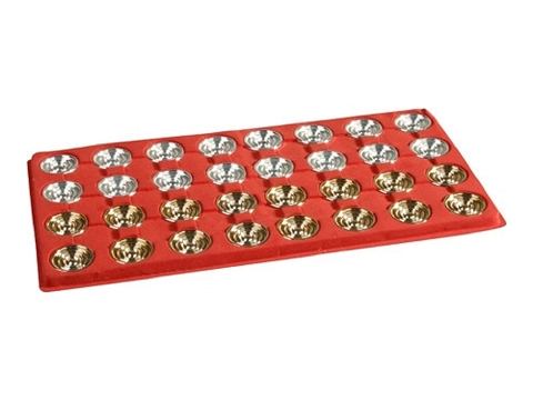 Giant Gold Backgammon Checkers<br>(1 3/4in. Dia.) - Set of 32