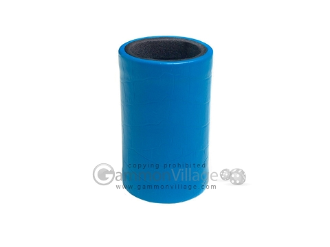 Turquoise Leatherette Backgammon Dice Cup - Black Interior with Trip Lip