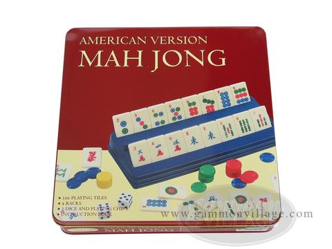 American Mah Jong Set - Tin Travel Case